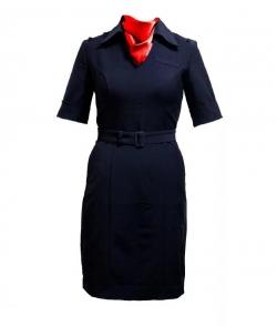 Платье ПОЛИЦИИ короткий рукав(платок в комплекте)