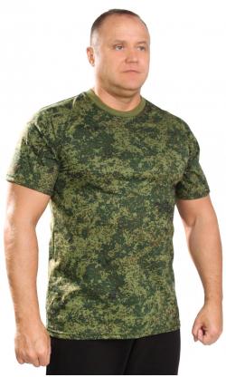 футболка камуфляж цифра зеленая.
