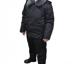 Костюм зимний танковый цвет черный