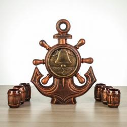 Подарочный набор  «Якорь» бронза, 7 предметов, 1 л