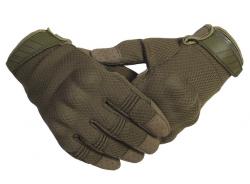 Тактические Полнопалые перчатки с кевларовой нитью (Хаки)