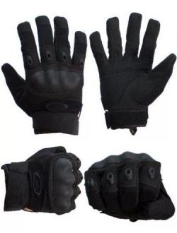 Тактические перчатки спецназа Oakley с кевларом (Черные)