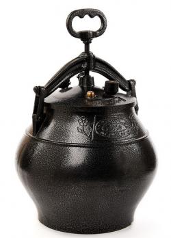 Афганский казан-скороварка 10 литров черный, алюминий