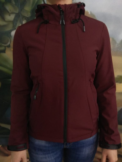 Куртка женская Тактическая SoftShell  демисезонная БОРДО