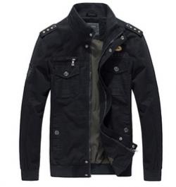 Мужская куртка Черная / Олива