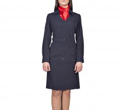 Платье ПОЛИЦИИ длинный рукав(платок в комплекте)