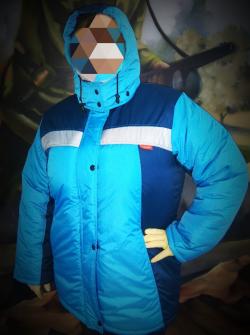 Куртка зимняя женская СИРИУС голубая